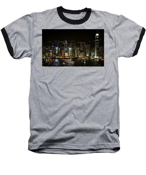 Hong Kong On A December Night Baseball T-Shirt