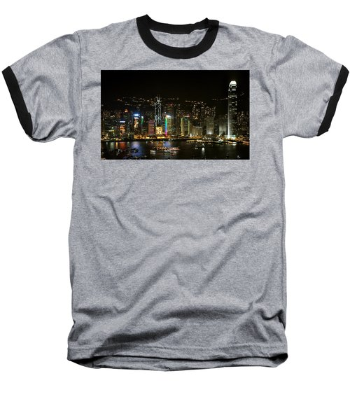 Hong Kong On A December Night Baseball T-Shirt