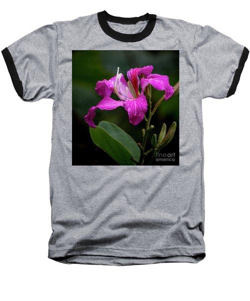Hong Kong Orchid Baseball T-Shirt