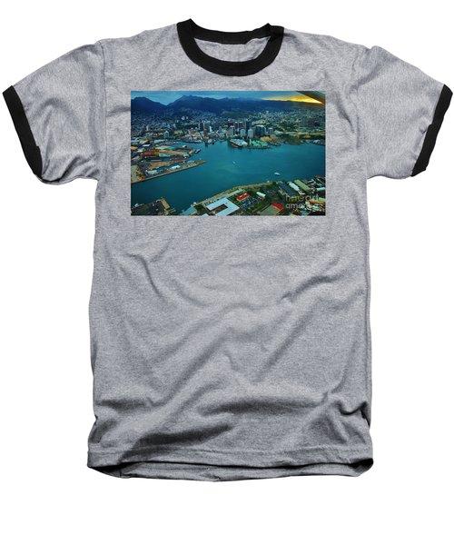Honolulu Waterfront At Dawn Baseball T-Shirt