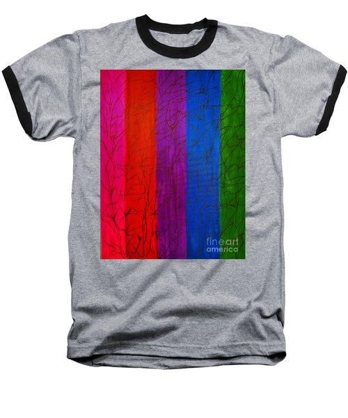 Honor The Rainbow Baseball T-Shirt by Rachel Hannah