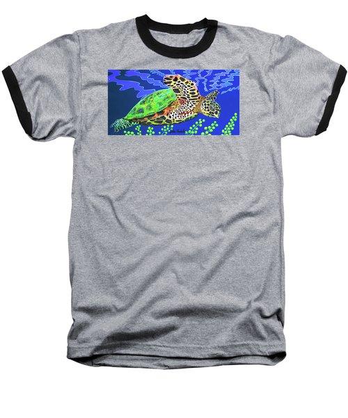 Honu Baseball T-Shirt by Debbie Chamberlin