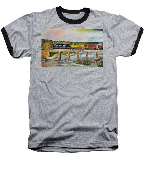 Baseball T-Shirt featuring the painting Hooch - Chattahoochee River - Columbus Ga by Jan Dappen
