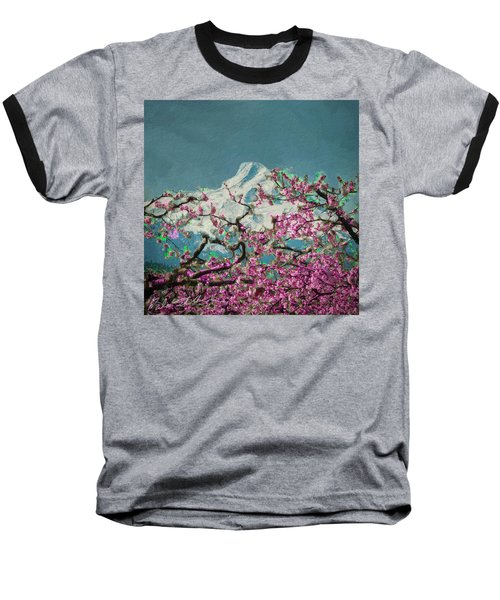 Hood Blossoms Baseball T-Shirt by Dale Stillman