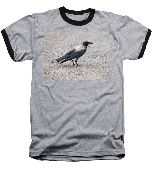 Baseball T-Shirt featuring the photograph Hooded Crow by Jouko Lehto