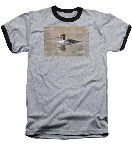 Hooded Merganser Female Baseball T-Shirt