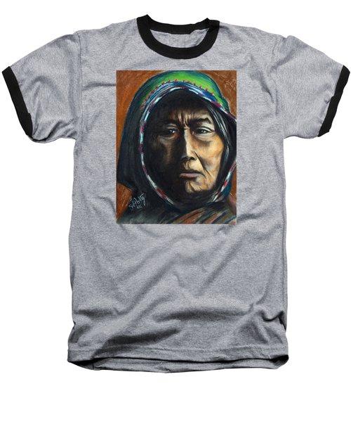 Hooded Woman Baseball T-Shirt