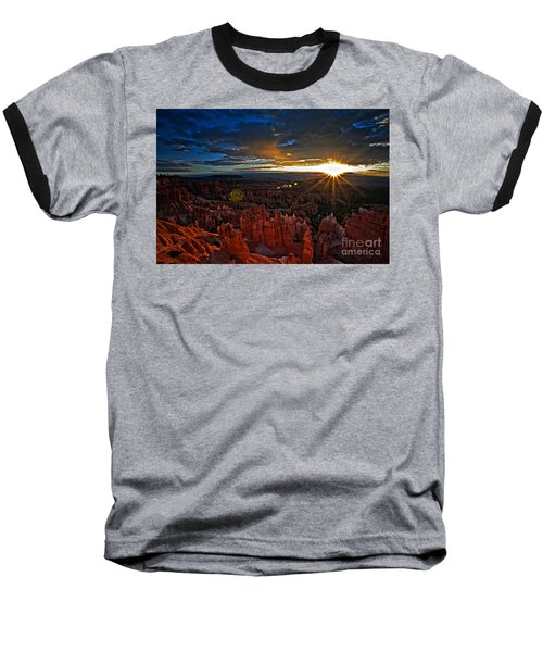 Hoodoos At Sunrise Bryce Canyon National Park Baseball T-Shirt by Sam Antonio