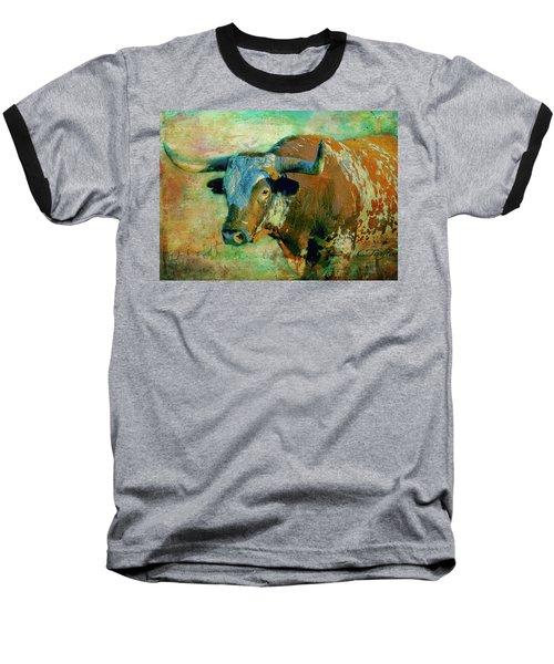 Hook 'em 1 Baseball T-Shirt by Colleen Taylor