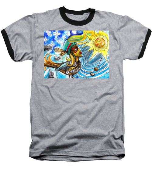 Baseball T-Shirt featuring the painting Hooked By The Worm by Genevieve Esson