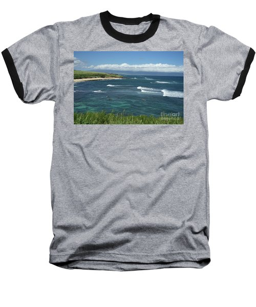 Ho'okipa Beach View From Ho'okipa Beach Park Hana Maui Baseball T-Shirt by Peter Dang