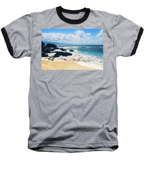 Baseball T-Shirt featuring the photograph Hookipa Beach Maui Hawaii by Sharon Mau