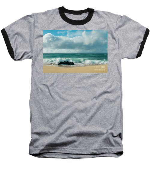 Baseball T-Shirt featuring the photograph Hookipa Beach Pacific Ocean Waves Maui Hawaii by Sharon Mau