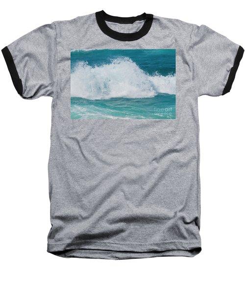 Hookipa Splash Waves Beach Break Shore Break Pacific Ocean Maui  Baseball T-Shirt by Sharon Mau