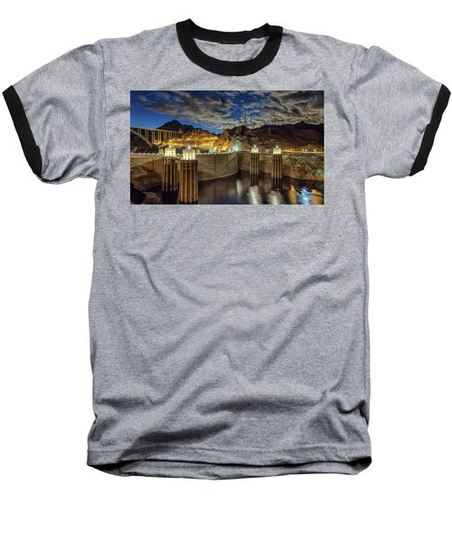 Hoover Dam Baseball T-Shirt by Michael Rogers