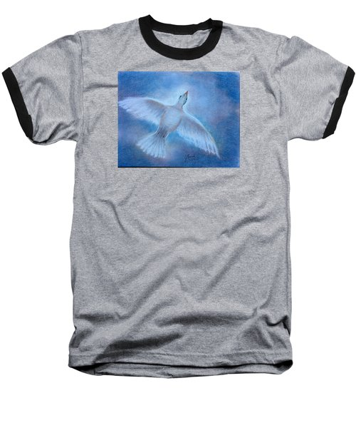 Baseball T-Shirt featuring the painting Hope And Peace by Laila Awad Jamaleldin