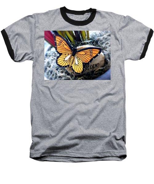 Hope Baseball T-Shirt by Carlos Avila