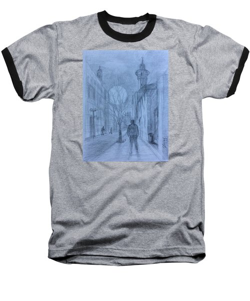Baseball T-Shirt featuring the painting  Moon Of Hope by Laila Awad Jamaleldin