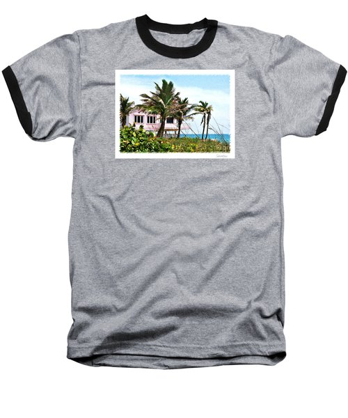 Hope Sound House Baseball T-Shirt by Linda Olsen