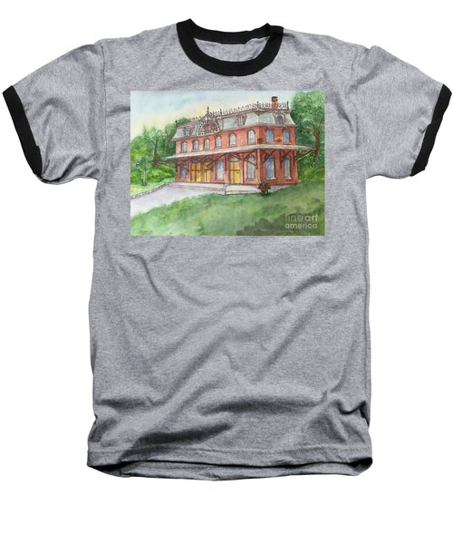 Hopewell Nj Train Station Baseball T-Shirt by Lucia Grilletto