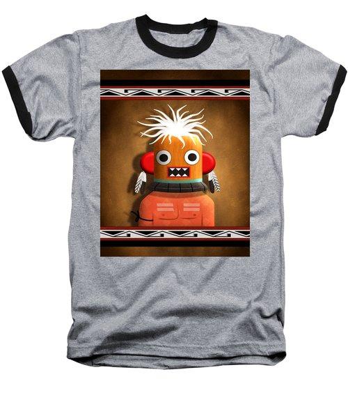 Hopi Indian Kachina Baseball T-Shirt by John Wills