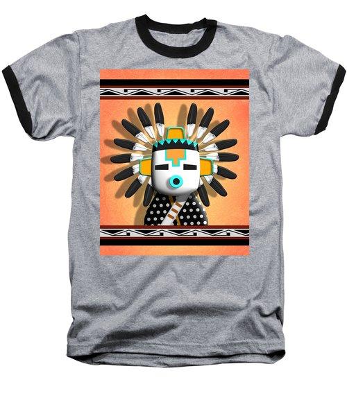 Hopi Kachina Mask Baseball T-Shirt by John Wills