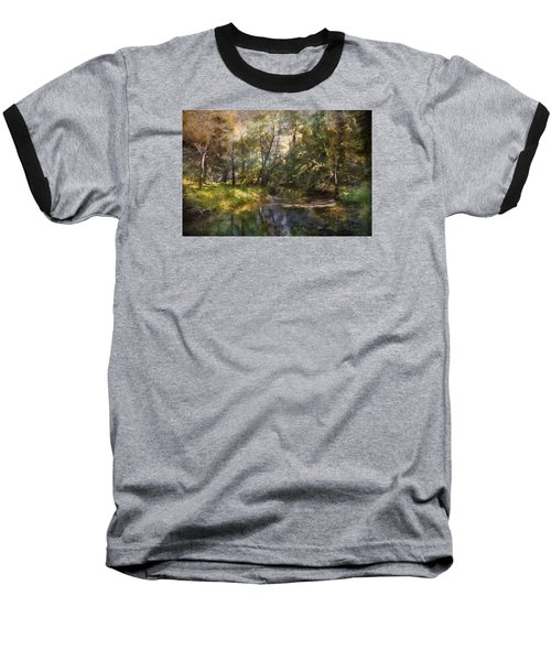 Hopkins Pond, Haddonfield, N.j. Baseball T-Shirt by John Rivera