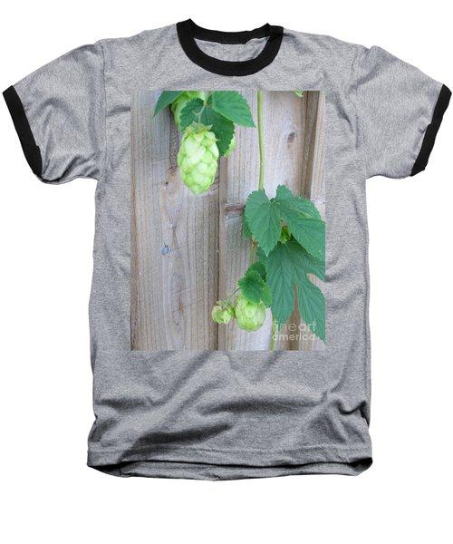 Hops On Fence Baseball T-Shirt