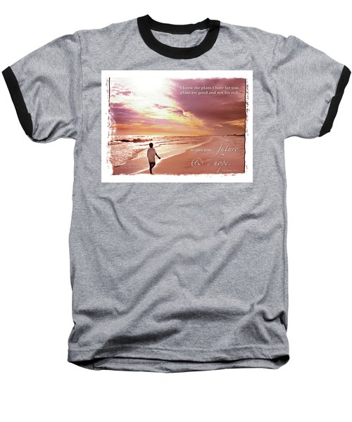 Horizon Of Hope Baseball T-Shirt by Marie Hicks