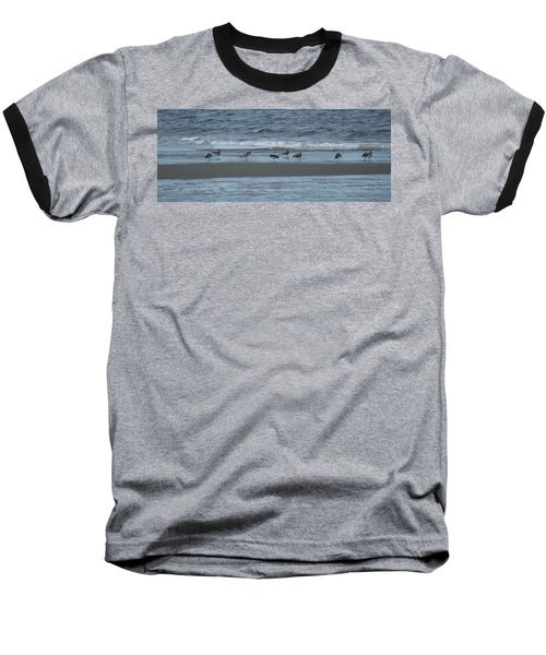 Baseball T-Shirt featuring the photograph Horizontal Shoreline With Birds by Margie Avellino