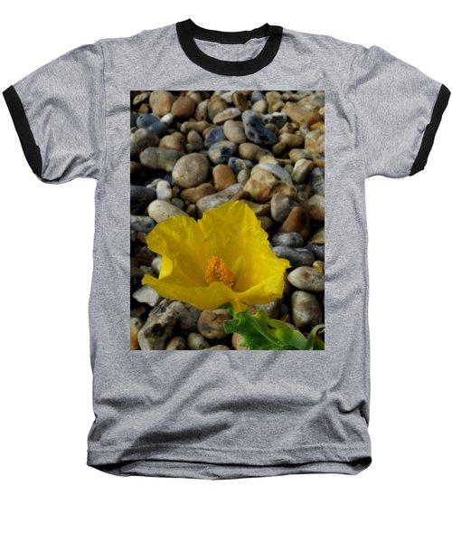 Horned Poppy And Pebbles Baseball T-Shirt