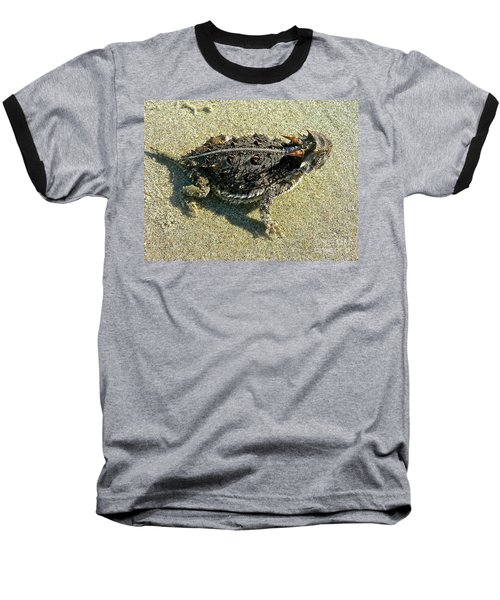 Horny Toad Lizard Baseball T-Shirt
