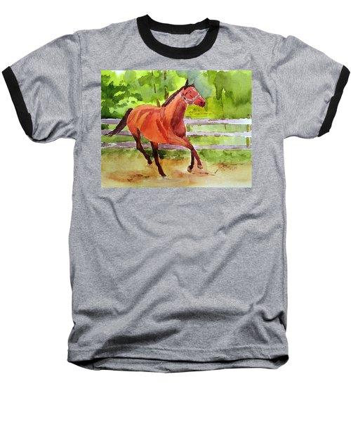 Horse #3 Baseball T-Shirt by Larry Hamilton