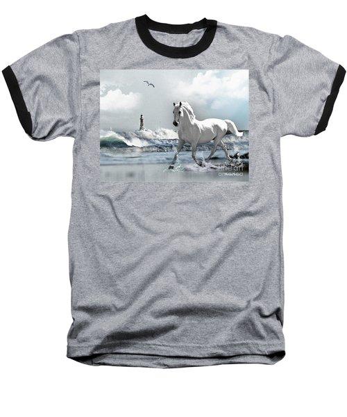 Horse At Roker Pier Baseball T-Shirt