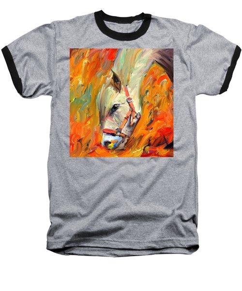 Horse And Grass Baseball T-Shirt
