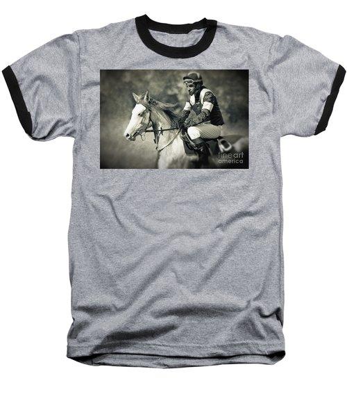 Horse And Jockey Baseball T-Shirt
