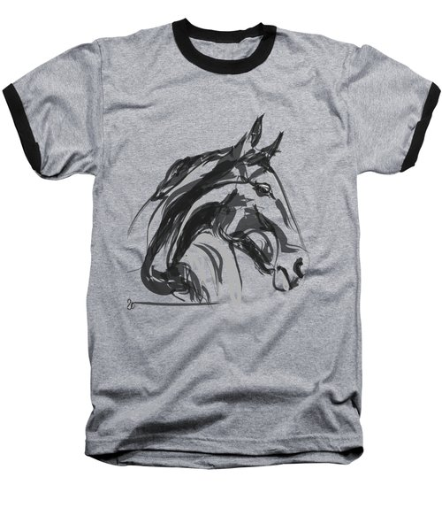 horse - Apple digital Baseball T-Shirt
