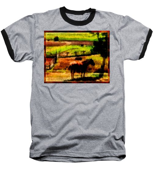 Horse At Pasture Baseball T-Shirt