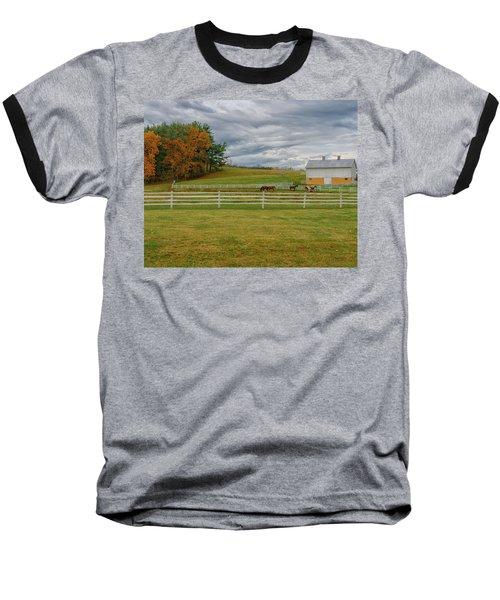 Horse Barn In Ohio  Baseball T-Shirt