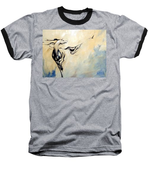 Horse Calling Crow Baseball T-Shirt