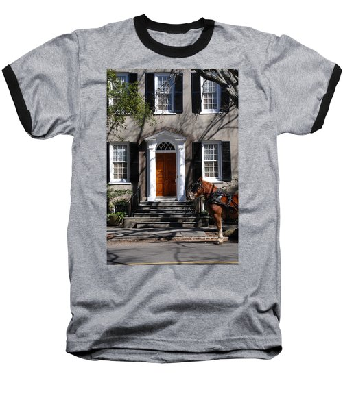 Horse Carriage In Charleston Baseball T-Shirt