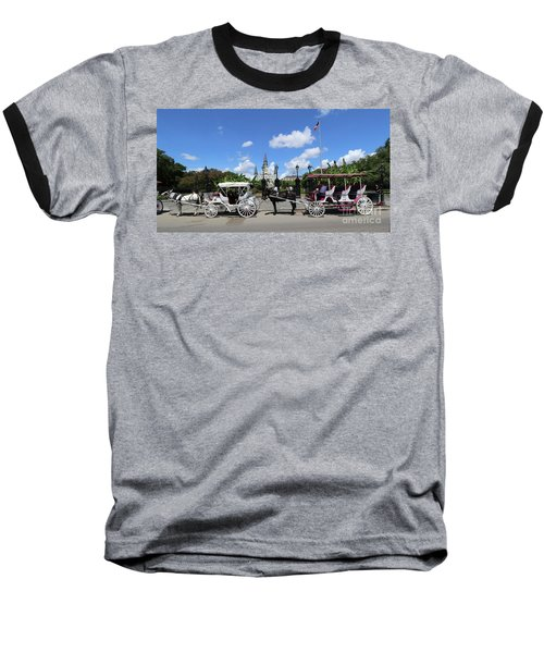 Baseball T-Shirt featuring the photograph Horse Carriages by Steven Spak