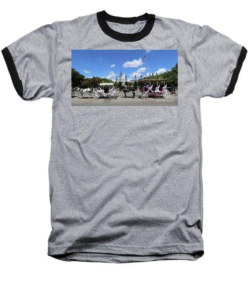 Horse Carriages Baseball T-Shirt