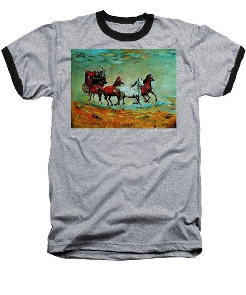 Horse Chariot Baseball T-Shirt by Khalid Saeed