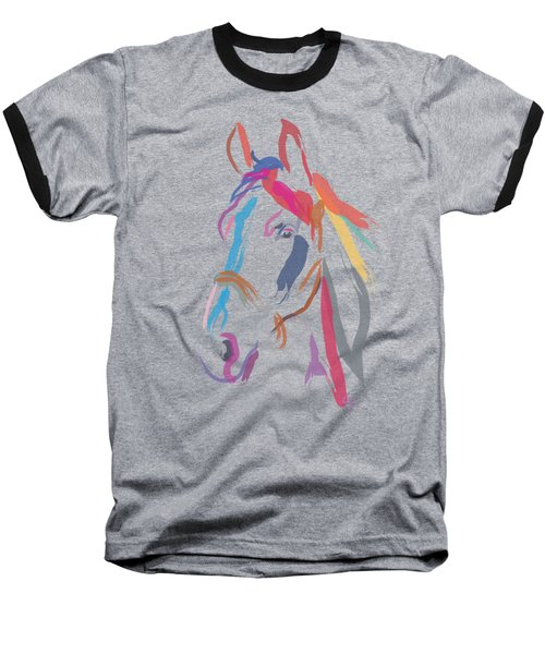 Horse-colour Me Beautiful Baseball T-Shirt