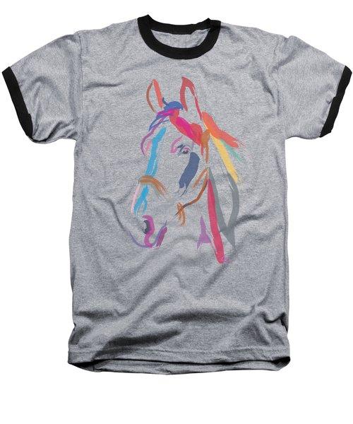 Horse Colour Me Beautiful In Ecru Baseball T-Shirt