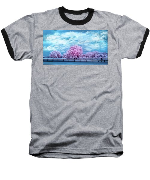Baseball T-Shirt featuring the photograph Horse Country In Pink by Louis Ferreira