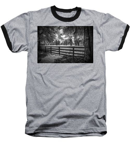 Baseball T-Shirt featuring the photograph Horse Country by Louis Ferreira