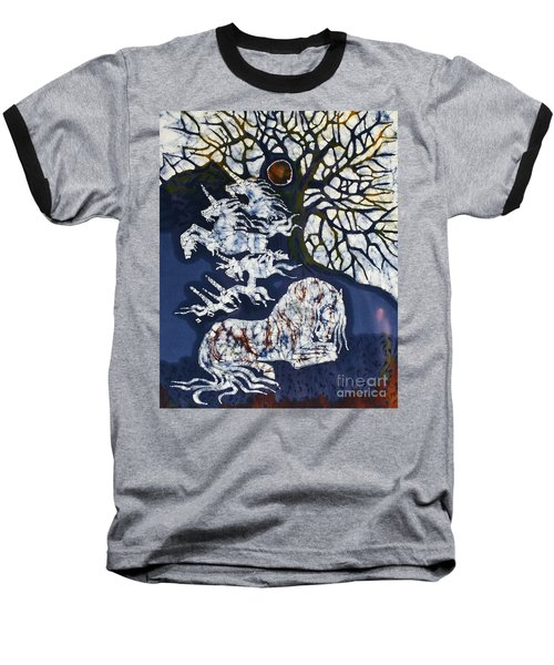 Horse Dreaming Below Trees Baseball T-Shirt
