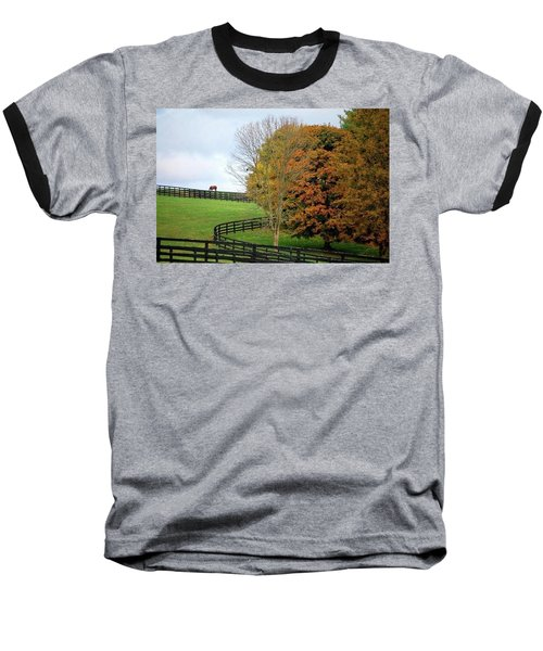 Baseball T-Shirt featuring the photograph Horse Farm Country In The Fall by Sumoflam Photography